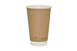 Vegware 16oz Compostable Double Wall Brown Kraft Cup (400) Thumbnail