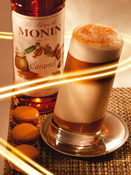 Monin Flavoured Syrup - Caramel (1 x 70cl Glass Bottle)