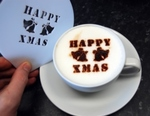 Coffee Stencil - Happy Xmas
