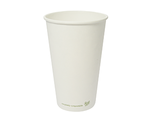 Vegware 16oz Compostable Single Wall White Cup (1,000)