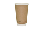 Vegware 16oz Compostable Double Wall Brown Kraft Cup (400)