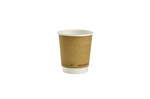 Vegware 8oz Compostable Double Wall Brown Kraft Cup (500)