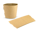 Vegware Large (12-16oz) Compostable Brown Cup Sleeve (2,000)