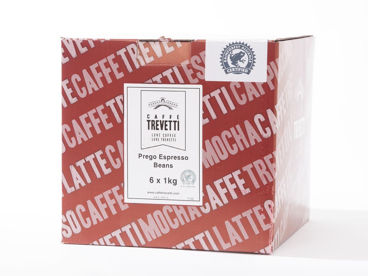 Caffe Trevetti Prego RFA Espresso Beans (6 x 1 Kilo)