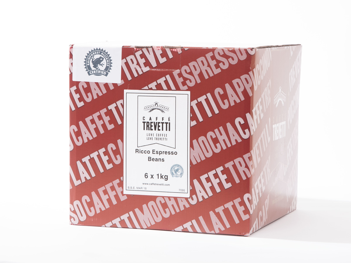 Caffe Trevetti Ricco RFA Espresso Beans (6 x 1 Kilo)