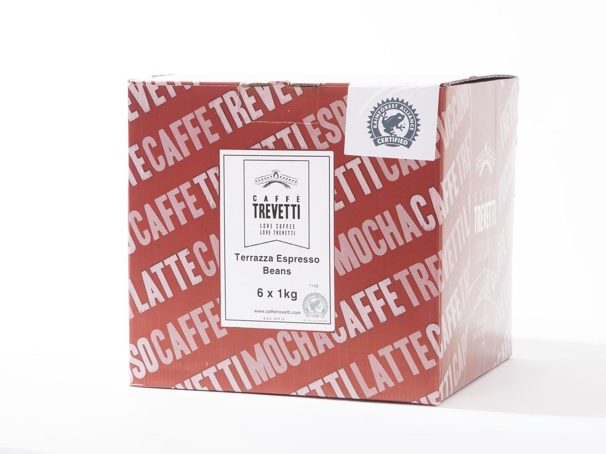 Caffe Trevetti Terrazza RFA Espresso Beans (6 x 1 Kilo)