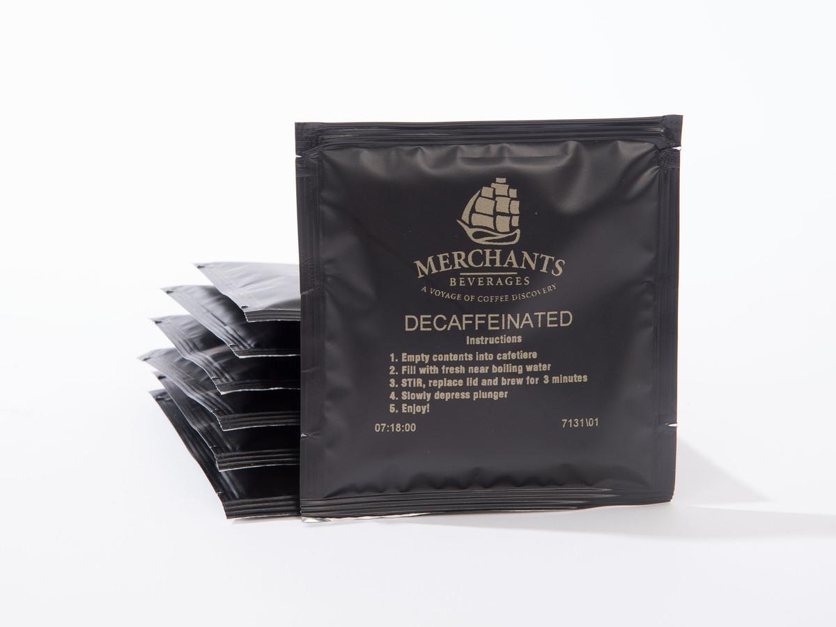 Merchants Decaffeinated Cafetiere Sachets (100 x 15g)