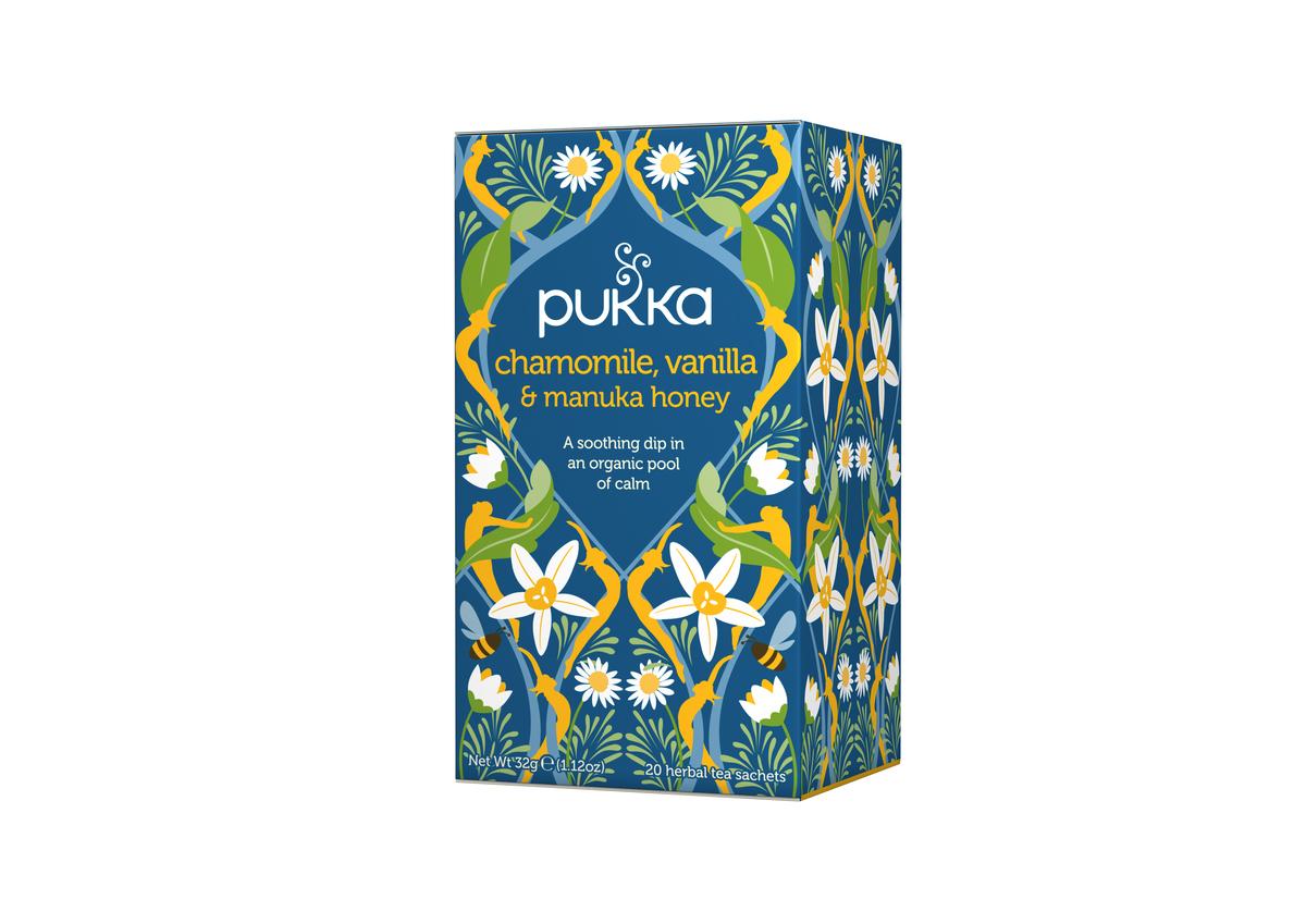 Pukka Chamomile, Vanilla & Manuka Honey Tag & Env Bags (20)
