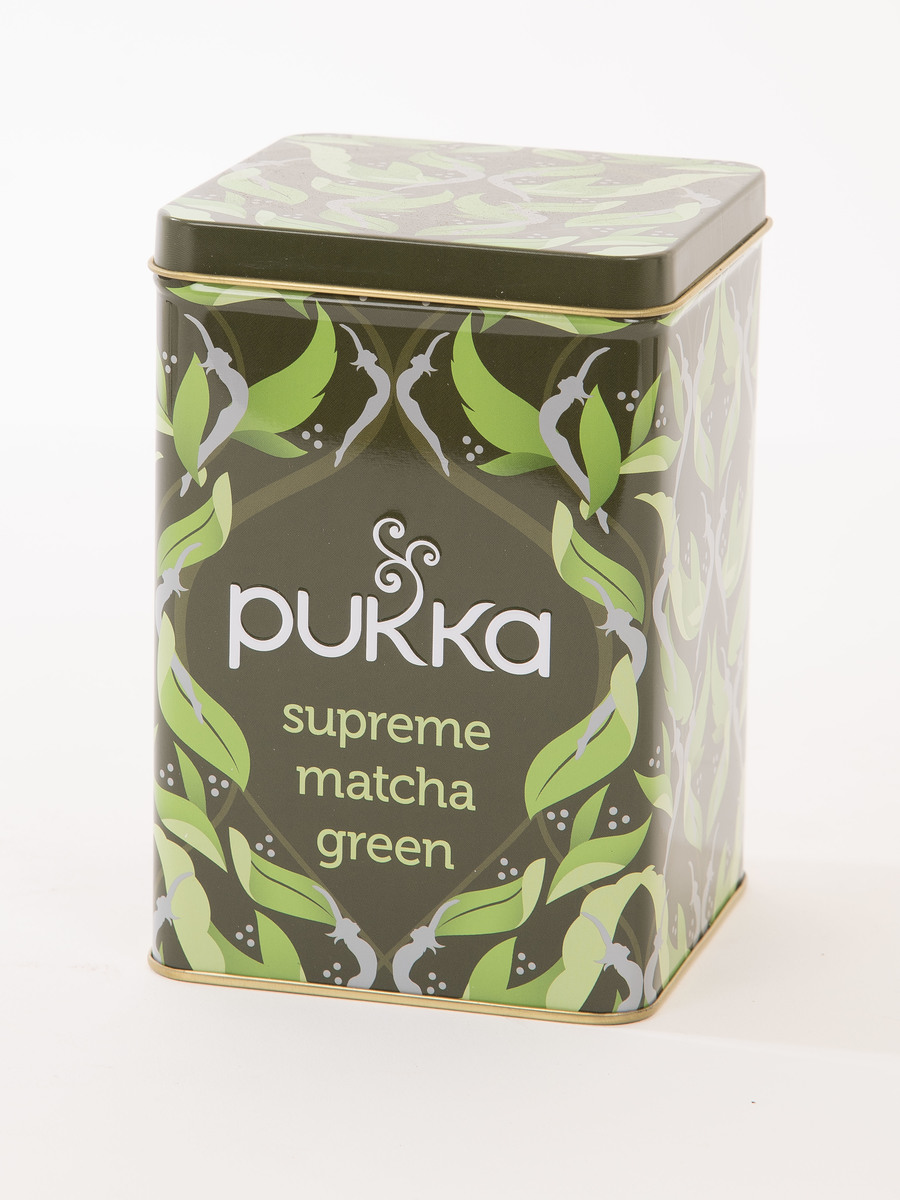 Pukka Supreme Matcha Green Reusable Display Tin