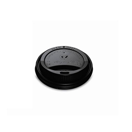 Vegware Compostable Black Lid for 8oz Cup (1,000)