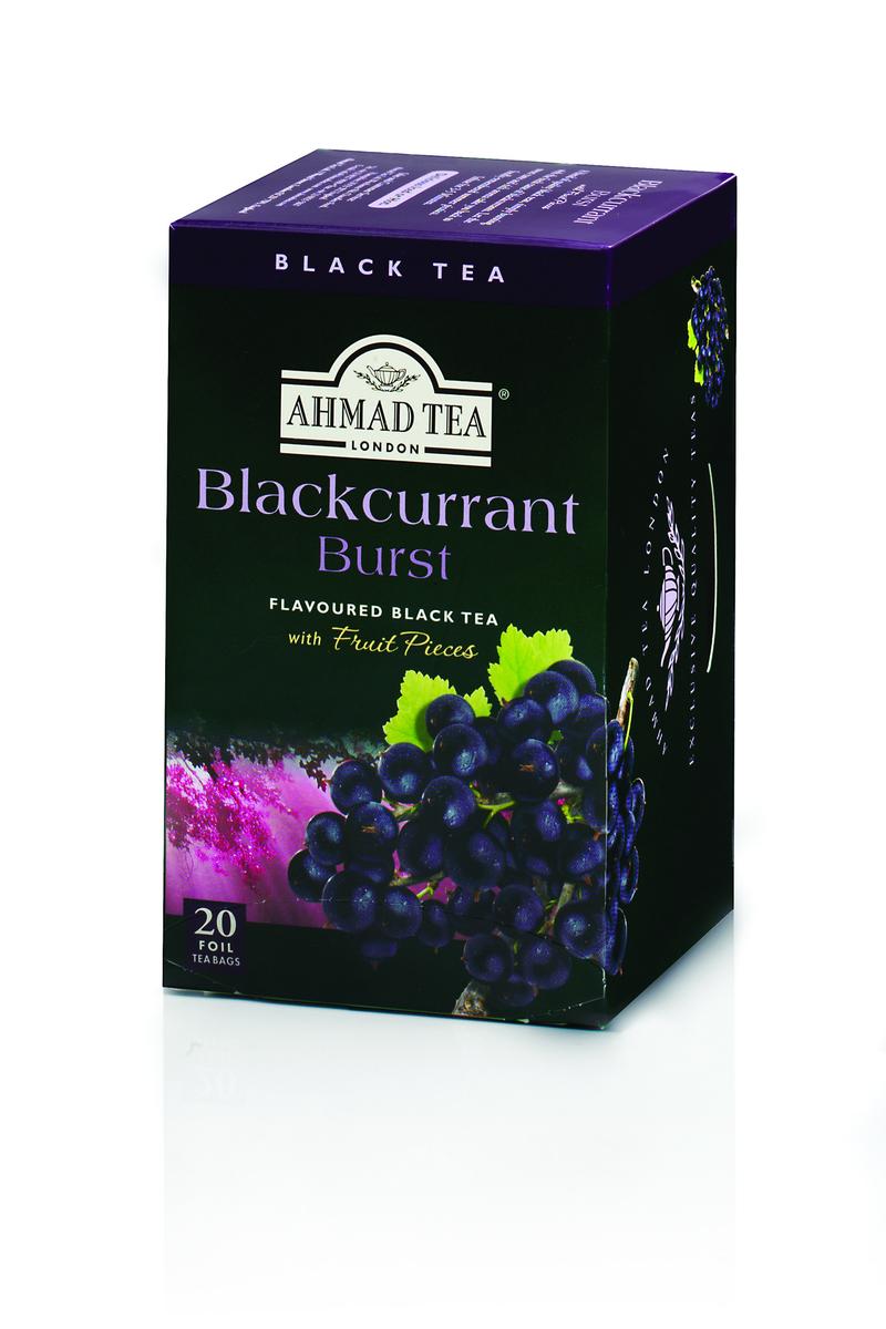 Ahmad Blackcurrant Burst Tag & Envelope Black Tea (20)
