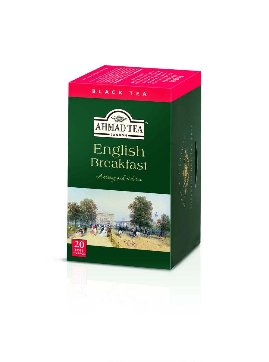 Ahmad English Breakfast Tag & Envelope Black Tea (20)