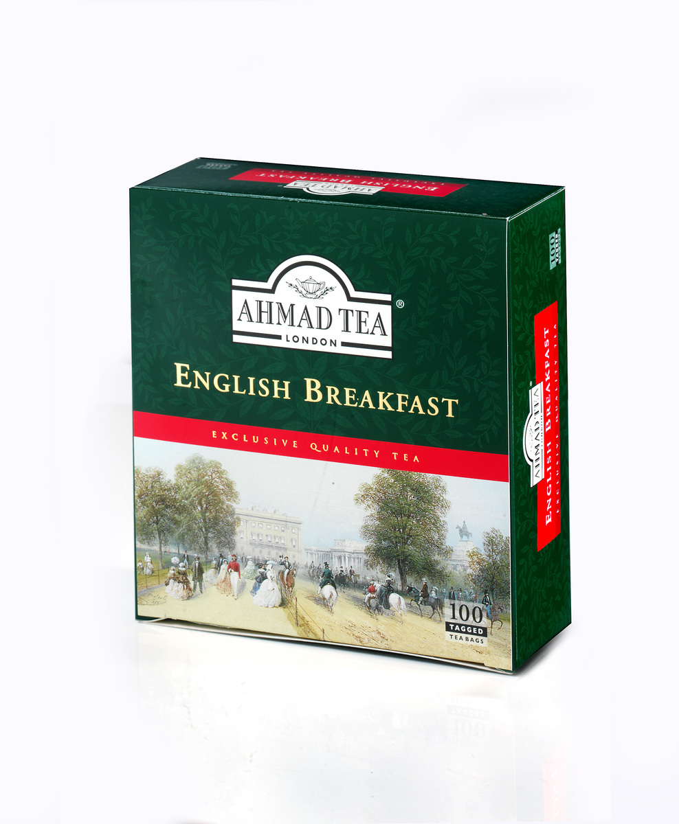 Ahmad English Breakfast Tag Only Black Tea (100)
