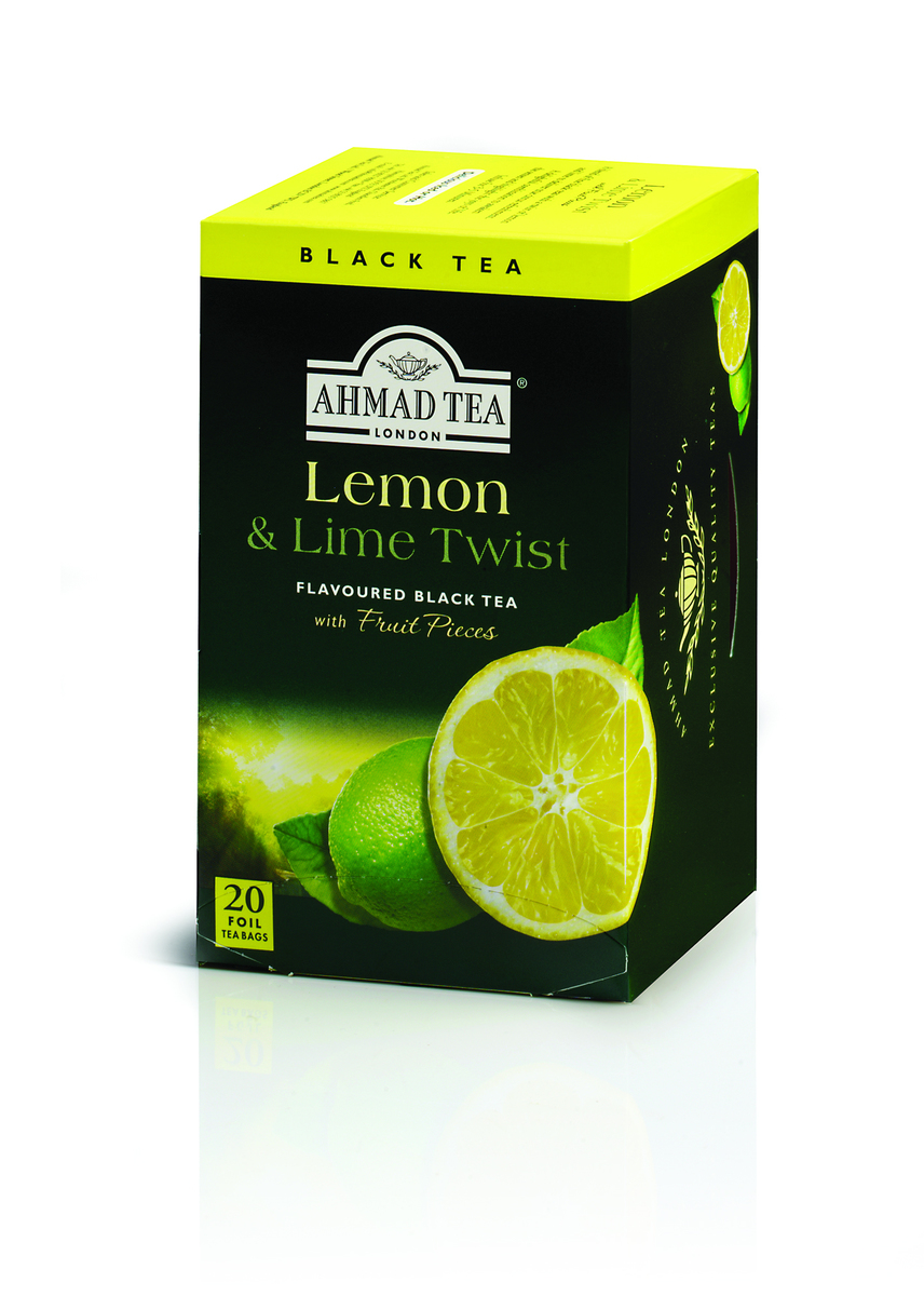 Ahmad Lemon & Lime Twist Tag & Envelope Black Tea (20)