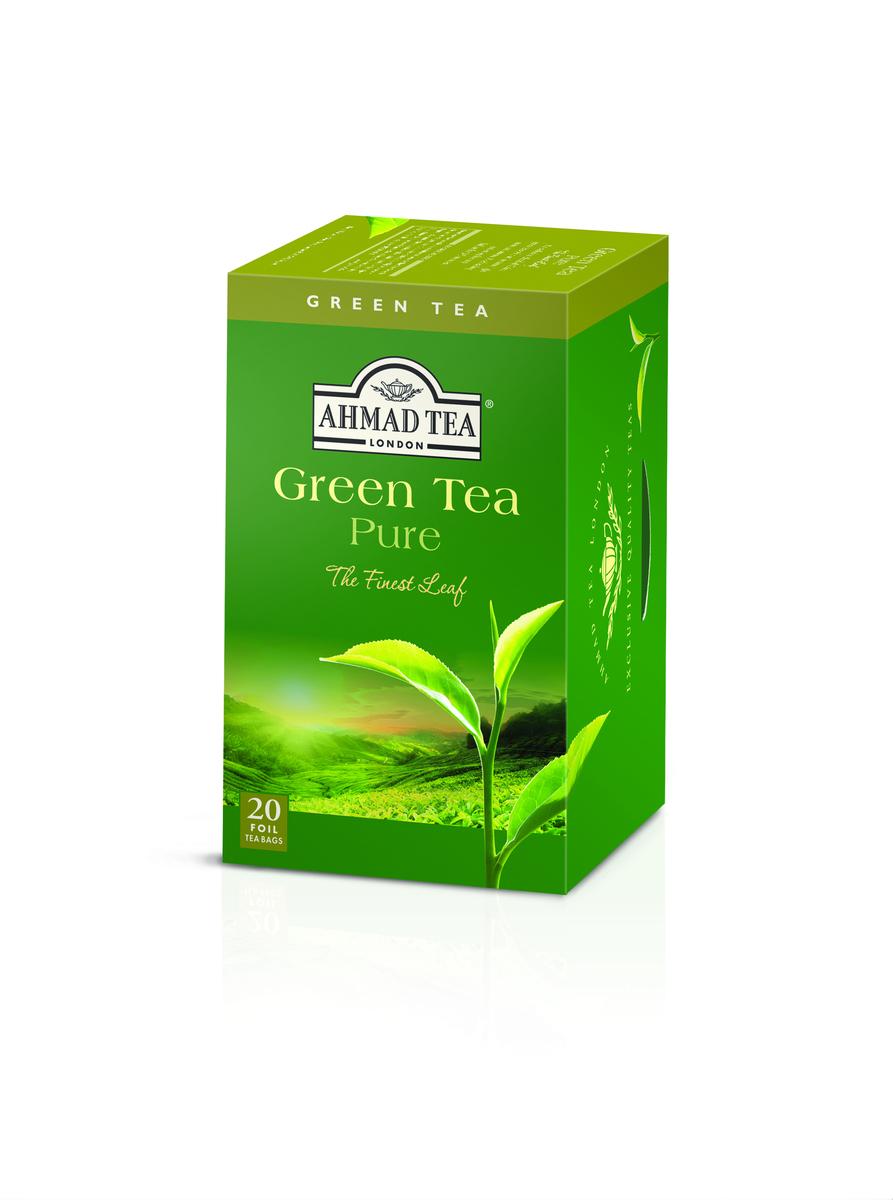 Ahmad Pure Green Tag & Envelope Tea (20)