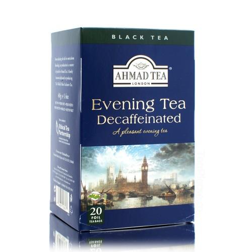 Ahmad Decaffeinated Evening Tag & Envelope Black Tea (20)