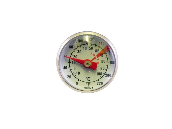 "Large Economy 8"" Thermometer with Dual Dial and Clip"