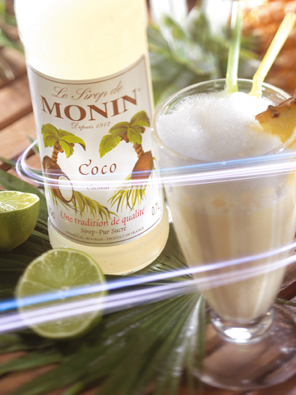 Monin Flavoured Syrup - Coconut (1x70cl Glass Bottle)