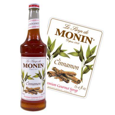 Monin Flavoured Syrup - Cinnamon (1x70cl Glass Bottle)