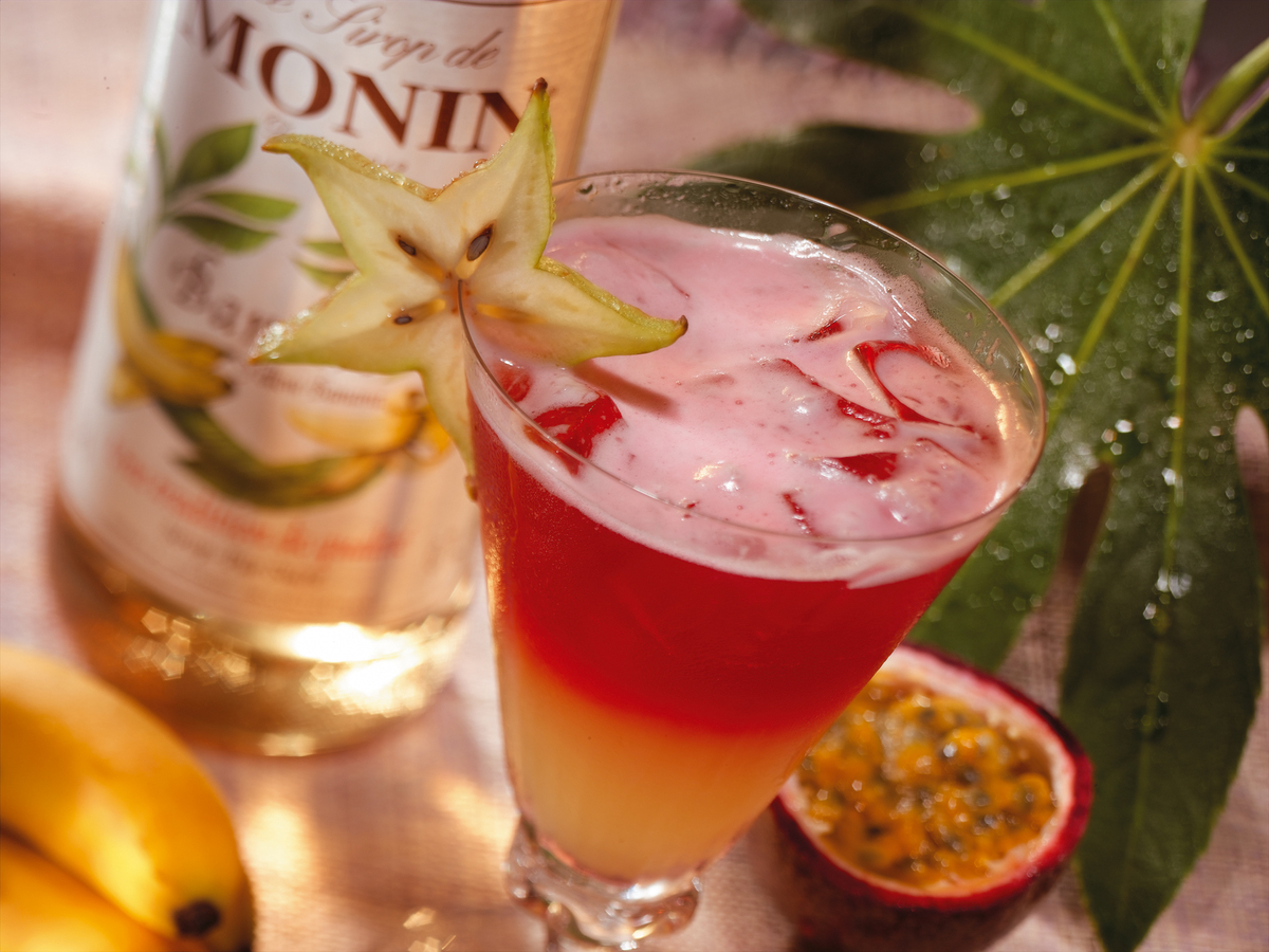 Monin Flavoured Syrup - Yellow Banana (1x70cl Glass Bottle)