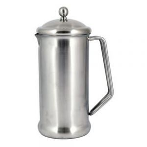 4 Cup (900ml) Cafetiere - Brushed Steel Finish