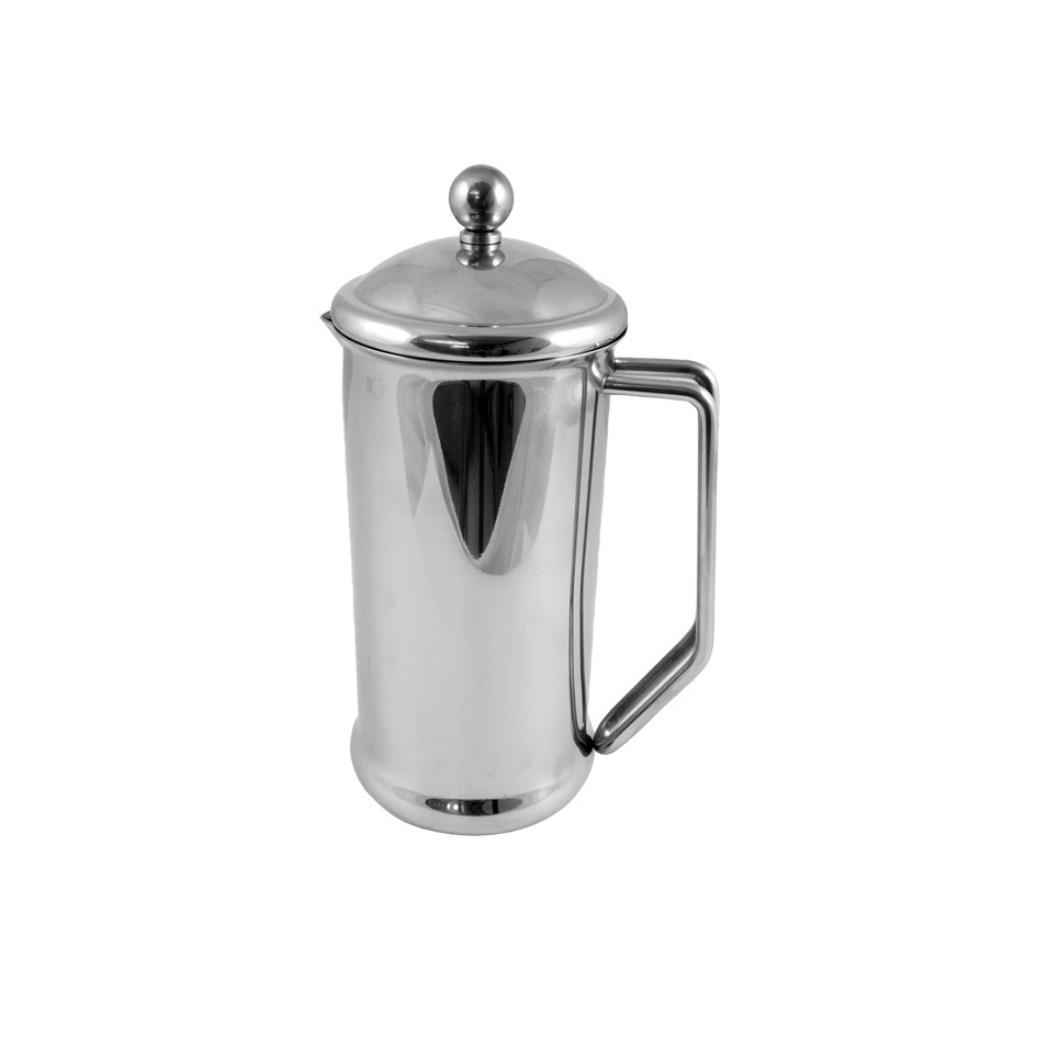 4 Cup Cafetiere - Stainless Steel Mirror Finish