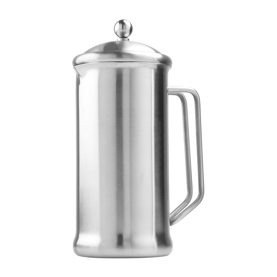 6 Cup (1200ml) Cafetiere - Brushed Steel Finish