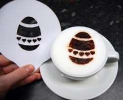 Coffee Stencil - Easter Egg