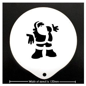 Coffee Stencil - Father Christmas