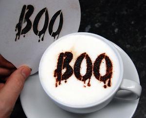 Coffee Stencil - Halloween Boo