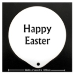 Coffee Stencil - Happy Easter