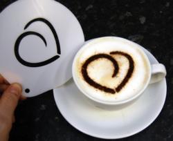 Coffee Stencil - Heart