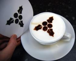 Coffee Stencil - Holly