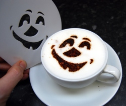 Coffee Stencil - Smiley Face