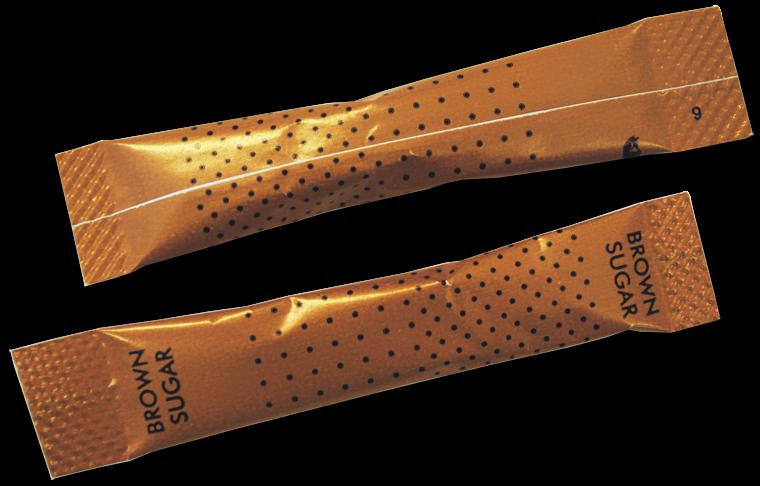 Brown Metallic Sugar Sticks (1000)