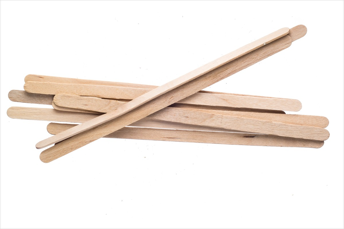 "5.5"" Disposable Wooden Coffee Stirrers (1,000)"