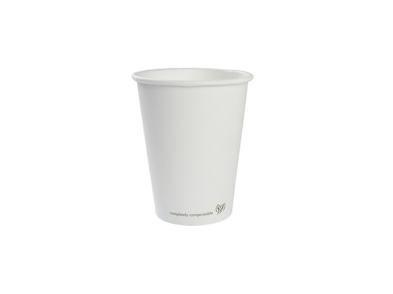 Vegware 12oz Compostable Single Wall White Cup (1,000)