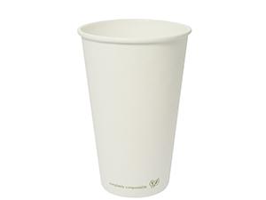 Vegware 16oz Compostable Single Wall White Cup (1,000)