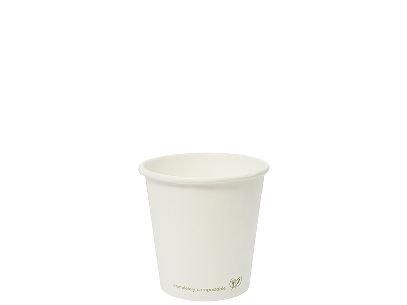 Vegware 4oz Compostable Single Wall White Cup (1,000)