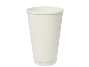 Vegware 8oz Compostable Single Wall White Cup (1,000)