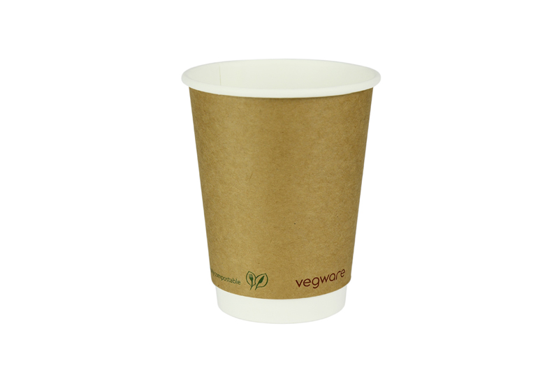 Vegware 12oz Compostable Double Wall Brown Kraft Cup (500)