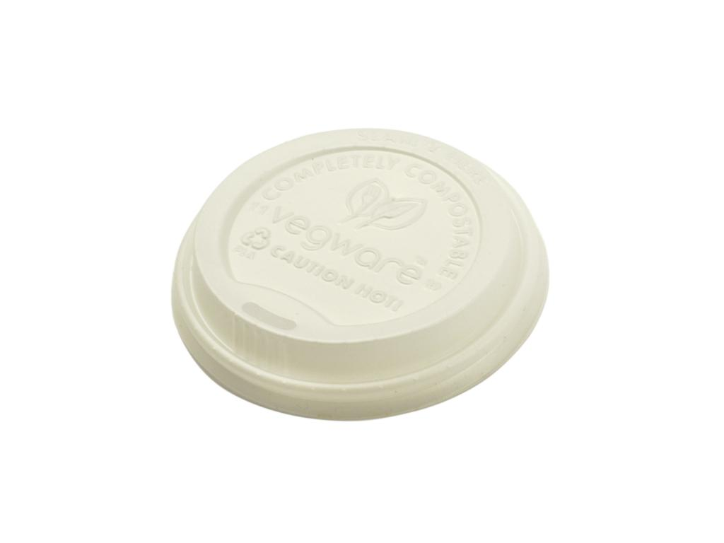 Vegware Compostable White Lid for 8oz Cup (1,000)