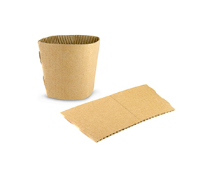 Vegware Small (8oz) Compostable Brown Cup Sleeve (2,000)